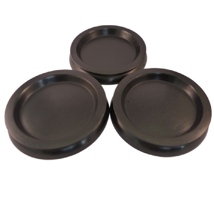Castor Cups Black wood Large - set of 3